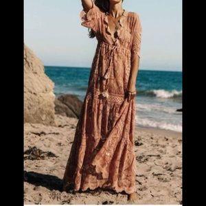 MISSLOOK boho lace dress XL